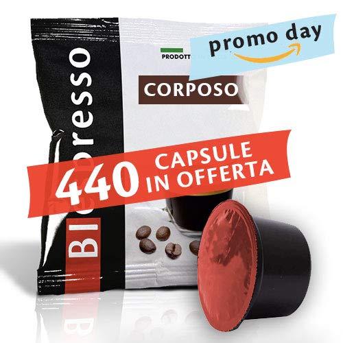 BIespresso caffè Miscela Corposo - Confezione da 400 Pezzi Capsule + 40 Capsule in Omaggio - Compatibile Lavazza Blue