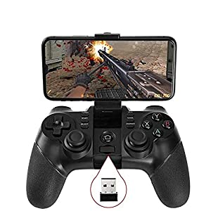 Vernwy Bluetooth Game Controller Wireless Gamepad Rechargeable Phone Controller, Kompatibel Mit Android Phone, Tablet, TV, TV Box,