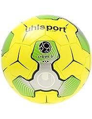 Uhlsport Liga 2balón de entrenamiento, color amarillo/plata/verde, talla 5