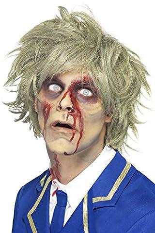 Smiffys Homme, Perruque de zombie, Gris, 25359