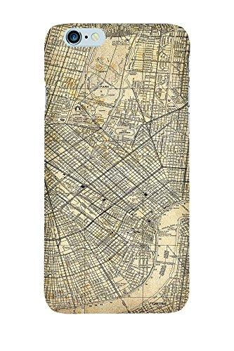iPhone 4/4S Coque photo - Retro Map New Orleans Sépia