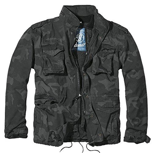 Brandit Herren Jacke M-65 Giant, Mehrfarbig (Darkcamo), XX-Large - Gewaschen Nylon-kappe