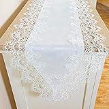 Chemin de table 40 * 220cm Fabriqué par Jacquard Satin Lace Convient pour mariage, fête, décoration de table de banquet