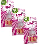 Air Wick Desodorisant Electrique Pop Love Recharge 19 ml - Lot de 3