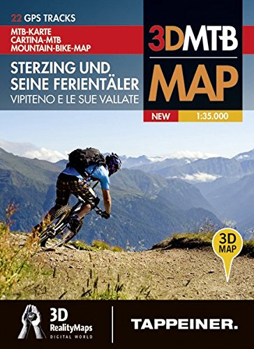 Mountainbike-Karte Sterzing und seine Ferientäler: Cartina Mountainbike Vipiteno e le sue vallate (Mountainbike-Karten / Cartine Mountainbike)