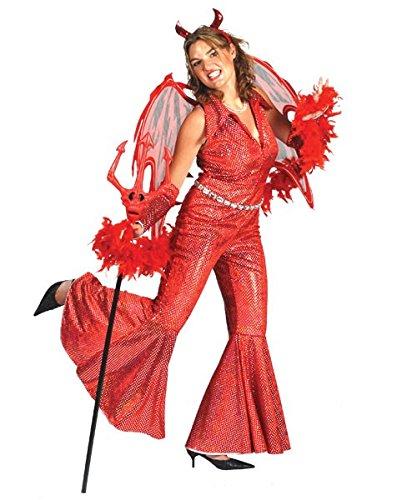 rall Daria Gr. 44/46 / Teufelskostüm Damen Halloween Teufel Rot Horror Karneval Fasching Pierro's (Daria Halloween)