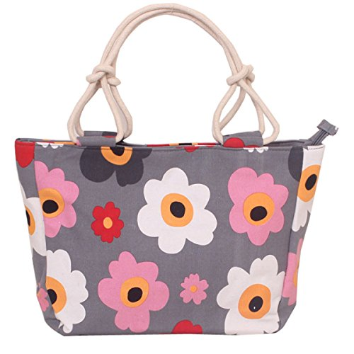 Ms Moda Sweet Lady Stampa Canvas Zipper Borsa Della Spalla 24.69 Once (oz) A19