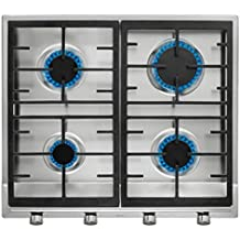 Teka EX 60 1 4G AI AL NAT Integrado Gas Acero inoxidable - Placa (Integrado, Gas hob, Cast-iron, Acero inoxidable, Sin marco, propano/butano)