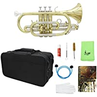 sharprepublic Trompeta Plana Profesional Cornet Kit De Instrumentos De Latón Para Estudiantes Principiantes
