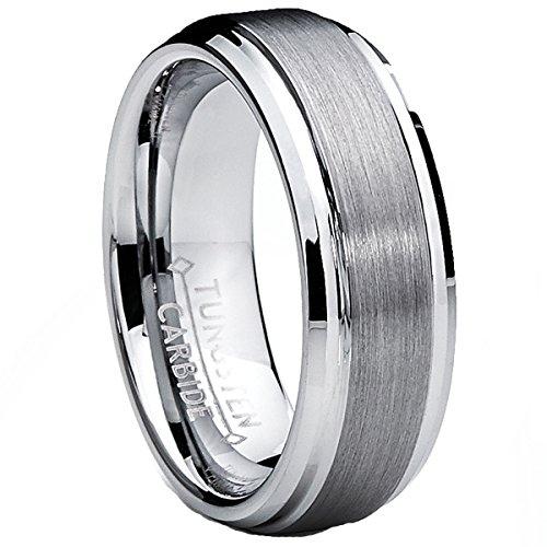 Ultimate metals® 7mm fede nuziale in tungsteno da uomo - anello di fidanzamento in tungsteno con finitura satinata