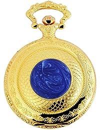 Tavo Lino Analog Reloj de bolsillo con cadena de metal 480702000066Oro Coloreado Carcasa en tamaño 47mm x 16mm con esfera de color blanco y cristal mineral.