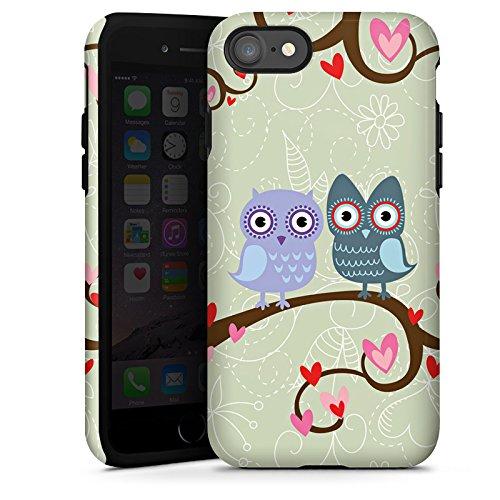 Apple iPhone X Silikon Hülle Case Schutzhülle Eulen Muster Dating Owls Tough Case glänzend