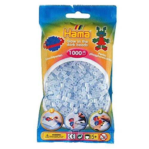 Preisvergleich Produktbild DAN Import 207-57 - Hama Perlen nachtleuchtend/blau