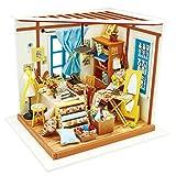 Winni43Julian DIY Puppenhaus Kit - DIY Puppenstube mit LED Licht - 19.5*17.5*17.5cm