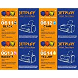 1 Full Set JETPLAY : 4 High Capacity Compatible Ink Cartridges Multipack 615 - 611 612 613 614 for Epson Stylus D68 D88 DX3800 DX3850 DX4200 DX4800 DX4850 Printers JETPLAY Replacements for T0611/T0612/T0613/T0614