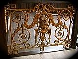 Antikas - Geländer mit Medaillon, französisches Balkon Gitter, Antik-Replik