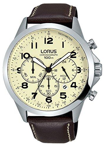 Lorus Reloj Cronógrafo para Unisex Adultos de Cuarzo con Correa en Cuero RT377FX9