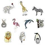 10PCS Penguin/Flamingo/koala/Zebra/Rabbit toppa per artigianato jeans abbigliamento bambini cucire abito di giacca zaino sciarpa cuscino applique