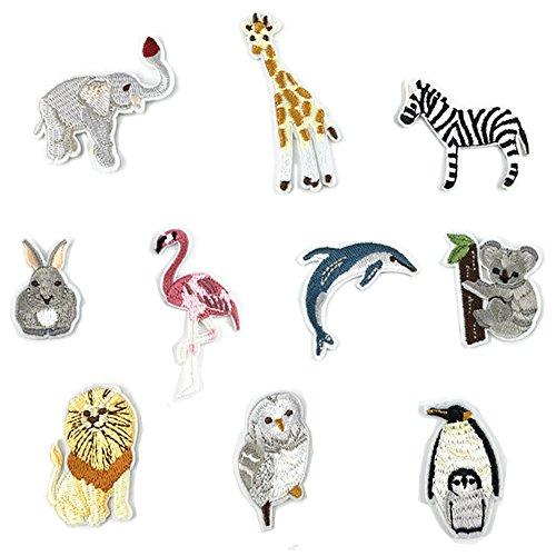 100Pinguin/Flamingo/Koala/Zebra/Kaninchen Eisen auf Patch für Crafts Jeans Kleidung Kinder Sew auf Kleid Jacke Rucksack Schal Kissen Aufnäher