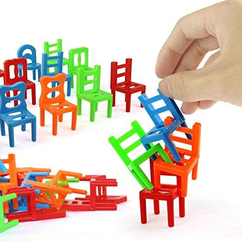 Jenilily 18PCS Balance stapelstühle Spiel Stühle Kunststoff Balance Spielzeug Stapelstühle für Kinder Bildung Spiel Spiel Spielzeug