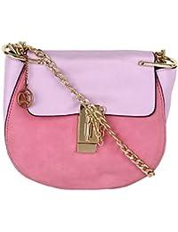 Moedbuille Pink Polyurethane (PU) Sling Bag - B074W4ZXGG