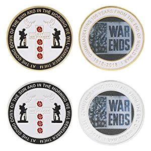 GwxevceCommemorative Coin World War 100. Jahrestag Souvenir Collection Pigeon Peace Coins Kunst Geschenke