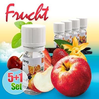 Liquid 5+1 Exklusivset : Apfel Erdbeer Kirsch Minze Vanille + Exklusivliquid gratis zum Testpreis von LIQUID7