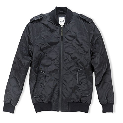 Mens Jacket Brave Soul Long Sleeved Classic Padded Zip Up Quilted Bomber Coat