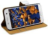 mumbi Ledertasche im Bookstyle für Samsung Galaxy S7 Tasche weiss