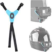 first2savvv Chin Mount Motorcycle Helmet Strap for GoPro Hero (2018) Hero 7 Black/White/Gray, Hero 6 Hero 5 Black Hero 4…