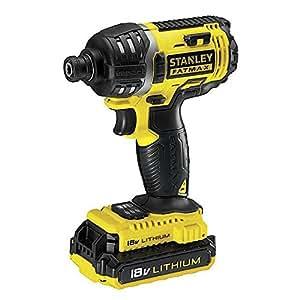 Stanley FMC645D2 Pistol grip drill Lithium-Ion (Li-Ion) 2Ah 1200g Black,Yellow - cordless combi drills (Lithium-Ion (Li-Ion), Black, Yellow)