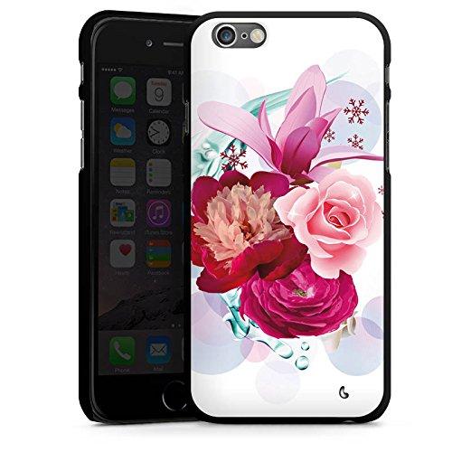 Apple iPhone 5s Housse Étui Protection Coque Fleurs Fleurs Fleurs CasDur noir