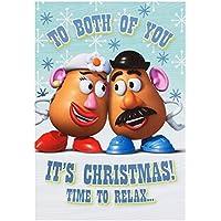 "Hallmark Toy Story To Both Christmas Card ""Mrs and Mrs Potato Head"" - Medium"