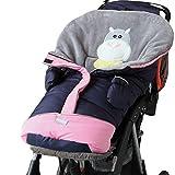 Baby Schlafsack Kinderwagen Schlafsack mit Handschuhe Kuscheldecke Blatt Pucken Decken (6–36Monate)