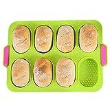 Ximger Mini-Baguette-Backblech,34 x 24 cm,Antihaft-Lochblech|Brot Crisping Tray,Laib Backform,Backt French-Bread,Breadstick und Brötchen