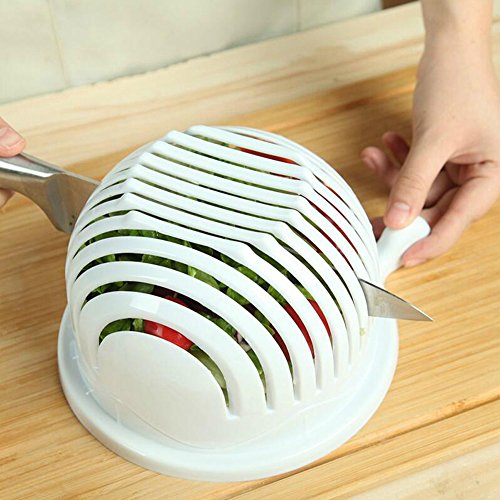Salatschneider Schale, 60 Sekunden Frische Salatschneider Schüssel Schneider Schneider Einfach gesund Frische Salatschneider Obst Gemüse Salat Chopper/Spinner mit Behälter (Salat Chopper)