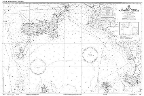 Istituto Idrografico della Marina IIM 5/D AR Carta Nautica Didattica 5D, Arrotolata senza Pieghe dal Canale di Piombino al Promontorio Argentario e Scoglio Africa