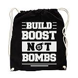 Build Boost Not War Gym Bag Black