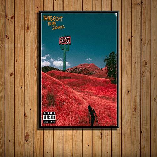 zxddzl Abdeckung Rap Musik Sänger Kunst Malerei Seide Leinwand Poster Wand Dekoration 20 50 * 70 -