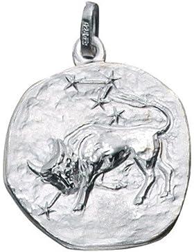 Sternzeichen Stier - Anhänger aus 925 Echt Silber Sterlingsilber Halsschmuck