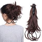 """Postiche Chignon Mariage Extension Cheveux (12""""=25cm) [Chignon Flexible Tresse] [Marron] On Dirait de Vrai Cheveux..."""