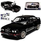 Solido BMW 3er E30 M3 Coupe Sport Evolution Schwarz 1982-1994 1/18 Modell Auto