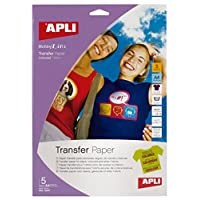Apli Transfer Paper for Colour T-Shirts A4 Ref 10247 [5 Sheets]