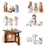 Hutschenreuther 02461-725498-90411 Emma und Anton Set Krippenfiguren aus Porzellan im Geschenkkarton 15-teilig