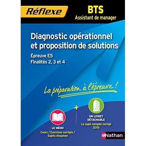 Diagnostic opérationnel et proposition de solutions - Épreuve E5 - Finalités 2, 3 et 4 - BTS AM