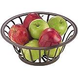 mDesign corbeille de fruits – panier de fruits décoratif pour cuisine, salle à manger ou salon – coupe de fruits pour ranger fruits, légumes, pain et beaucoup plus – bronze