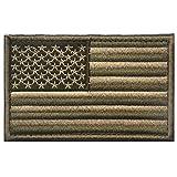 Luckiests 8 * 5cm del Bordado de la Bandera Americana Capítulo Ropa Bolsas Patch Pin Brazalete Stickers