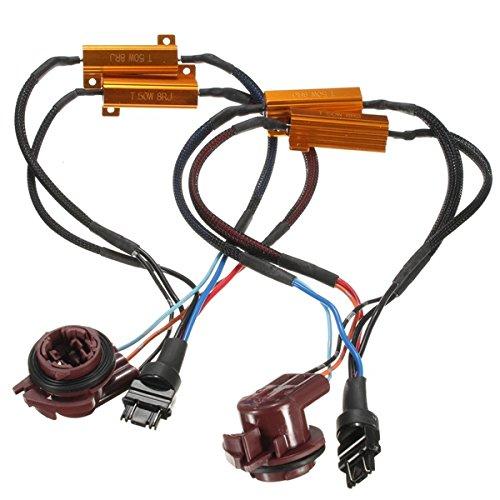 Alamor 2 St 50W 3157 Car Turn Signal Light Widerstand Decoder Hyper Flash Fix Verkabelung Adapter
