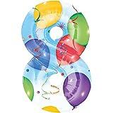 Folienballon - Zahl 8 BUNT - XXL 86cm, Zahlen Luftballon + PORTOFREI mgl + Geschenkkarten Set + Helium & Ballongas geeignet. High Quality Premium Ballons vom Luftballonprofi & deutschen Heliumballon Experten. Luftballondeko zum Geburtstag oder Jubiläum. Lustiger Geburtstagsgeschenk Ballon