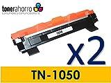 tonerahorro® Pack 2UD TN1050TN-1050Toner 1500Seiten für Brother HL-1110, 1112, hl-1210W, hl-1212W, DCP-1510, DCP-1512/dcp-1610W, DCP-W, MFC-1810, MFC 1815MFC mfc-1910W